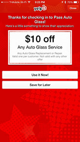 pass auto glass yelp offer